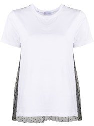 Red Valentino Lace Embellished Short Sleeved T Shirt 60