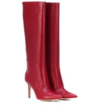Gianvito Rossi Suzan 85 Leather Boots Red