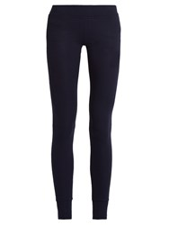 Atm Anthony Thomas Melillo Ribbed Jersey Leggings Navy
