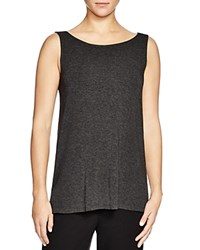 Eileen Fisher Boat Neck Tank Charcoal