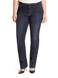 Nydj Plus Size Marilyn Straight Leg Jeans Hollywood Wash
