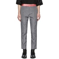 Haider Ackermann Grey Skinny Classic Trousers