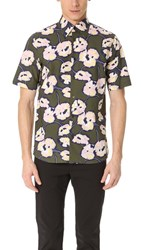 Marni Swash Print Short Sleeve Shirt Military Pink