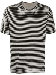 Roberto Collina Striped Loose Fit T Shirt 60
