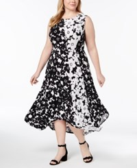 Inc International Concepts I.N.C. Plus Size Handkerchief Hem Midi Dress Created For Macy's Poppy Shadows