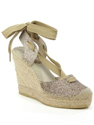 Daniel San Marcos Ankle Tie Wedge Espadrilles Multi Coloured