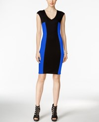 Bar Iii Colorblocked Sheath Dress Only At Macy's Lazulite Combo