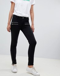 2Nd Day 2Ndday Skinny Jeans With Zip Detail Black Denim