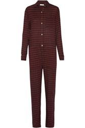 Etoile Isabel Marant Peters Checked Flannel Jumpsuit Multi