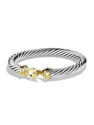 David Yurman Cable Buckle Bracelet With Gold Silver Gold