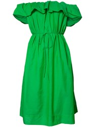 Paule Ka Off Shoulder Dress Green