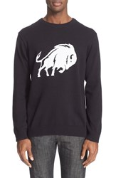 Men's White Mountaineering Buffalo Intarsia Sweater