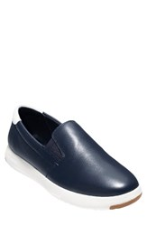 Cole Haan Men's Grandpro Slip On Navy Ink White Leather