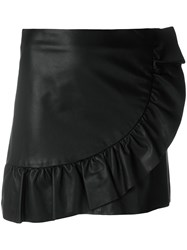 Simonetta Ravizza Ruffle Trim Mini Skirt Black