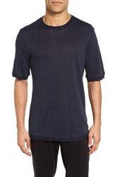 Vince Men's Sweater Trim T Shirt Coastal