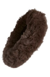 Dena Genuine Rabbit Fur Head Wrap