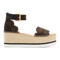 See By Chloe Brown Glyn Kiara Espadrille Sandals