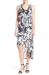 Women's Kensie 'Exotic Leaves' Print Asymmetrical Maxi Dress