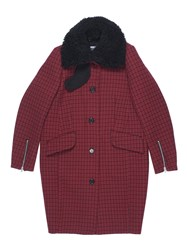 Yang Li Double Face Aviator Coat Red