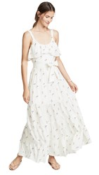 Paige Tevin Maxi Dress White Western Rose