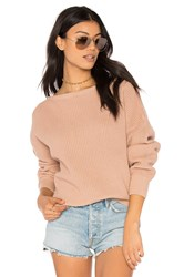 Callahan Fisher Off The Shoulder Sweater Nude