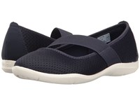 Crocs Swiftwater Flat Navy White Women's Flat Shoes Blue