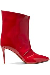 Alexandre Vauthier Alex Patent Leather Ankle Boots Red