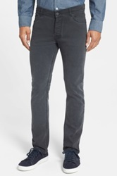 Surface To Air Straight Leg Washed Denim Jeans Gray