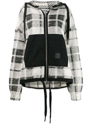 Mcq By Alexander Mcqueen Checked Knit Cardigan White