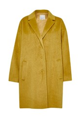 Great Plains Kitty Cocoon Coat Yellow