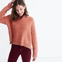 Madewell Popstitch Pullover Sweater Burnished Blush