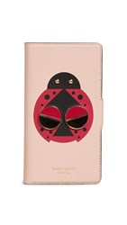 Kate Spade New York Lucky Ladybug Folio Iphone Case Flapper Pink