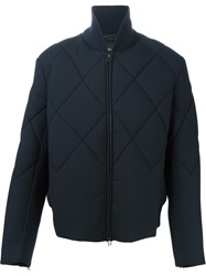 3.1 Phillip Lim Quilted Effect Bomber Jacket Blue