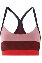 Lndr Shift Striped Stretch Sports Bra Pink