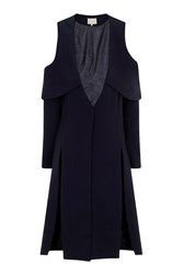 Open Sleeve Coat By Lavish Alice Navy Blue