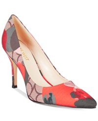 Nine West Flax Pointed Toe Pumps Women's Shoes Red Multi