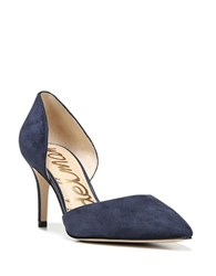 Sam Edelman Telsa Suede Pointed Toe Heels Navy Blue