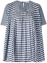 Dice Kayek Gingham Pleated Blouse Black