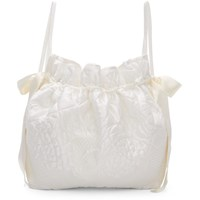 Cecilie Bahnsen White Shelly Backpack