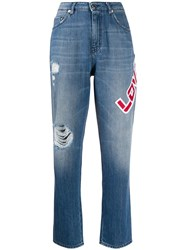 Love Moschino Logo Patch Jeans 60