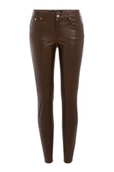 Ralph Lauren Black Label Skinny Leather Pants Brown