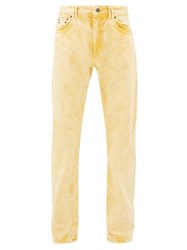 Y Project Bleached Double Seam Jeans Yellow