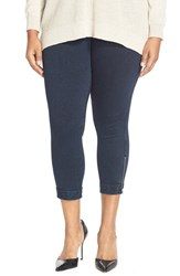 Plus Size Women's Lysse Cuffed Denim Crop Leggings