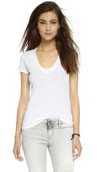 James Perse Short Sleeve V Neck Tee White