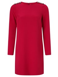 Adrianna Papell Long Sleeve Short Dress Red