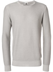 Paolo Pecora Textured Jumper Grey