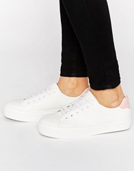 Blink Soft Toecap Lace Up Trainer White Pink