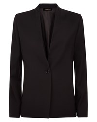 Jaeger Insert Lapel Tailored Jacket Black