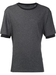 Atm Anthony Thomas Melillo Layered Sleeve T Shirt Grey