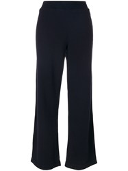 Jo No Fui Flared Track Pants Cotton Polyester Cashmere Wool Xs Blue